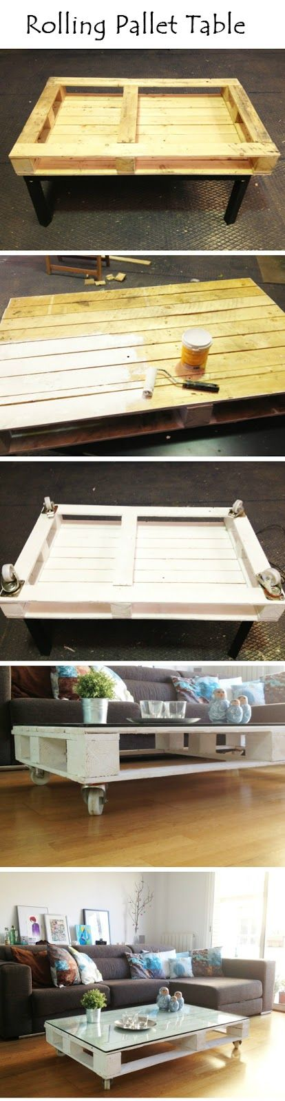 Rolling Pallet Table | Crafts and DIY Community