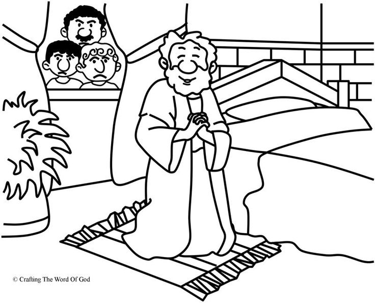 Daniel Prayed Coloring Page Day 4