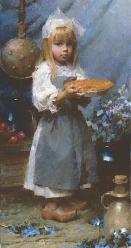 Morgan Westling Dutch Apple Pie, Smallwork Canvas Edition #MorganWeistling #Figurative.