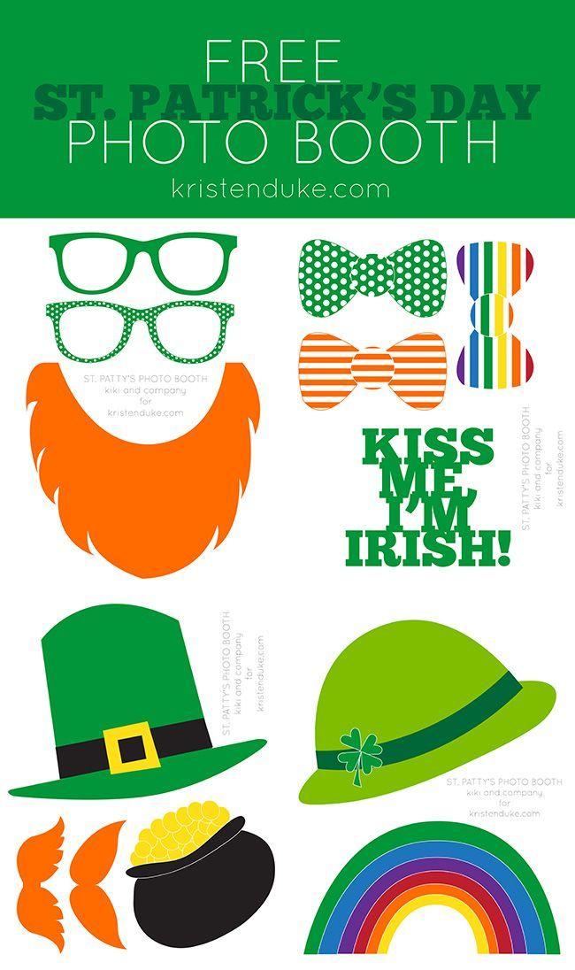 St Patricks Day photo booth free printable
