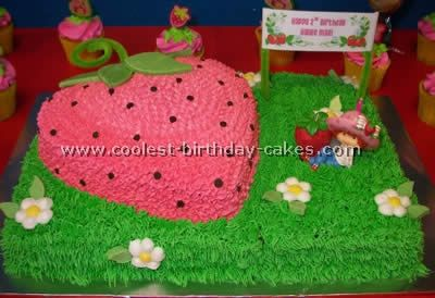 Strawberry Shortcake Kids Birthday Cake Idea....Kenzie would love this!