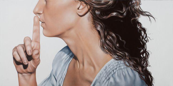 Antonella Cinelli dipinto olio e acrilico su tela; oil and acrylic on Canvas