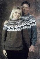 Ístex - íslenskur textíliðnaður - Icelandic Sweater with horses; FreePattern