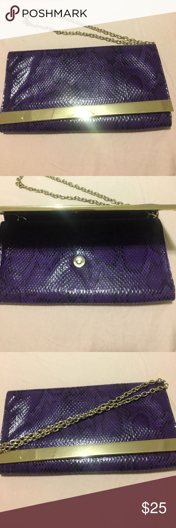 Purple animal print clutch Purple animal print clutch Bags Clutches & Wristlets