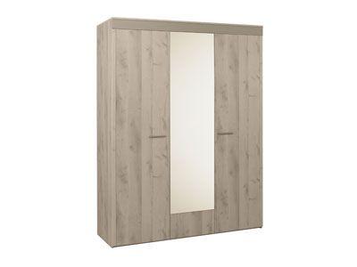 Armoire 171 cms SELDA Conforama Dimensions hors tout : L171 x H218 x P59 cm DESCRIPTION Armoire 3 portes : 2 portes pleines 1 porte miroir - 2/3 penderie, 1/3 lingère - 4 tablettes. 2 portes pleines, 1 porte miroir