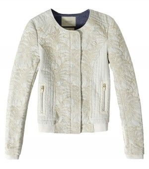 Maison Scotch Quilted Bomber Jacket