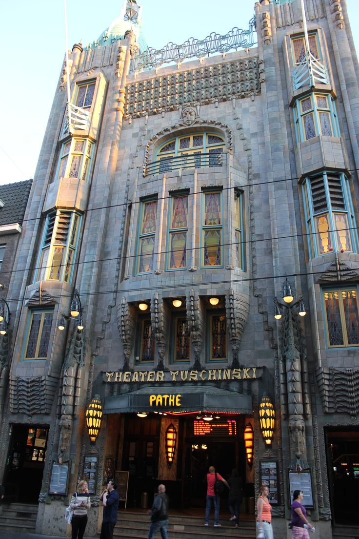 <3 going to the art deco Tuschinski movie theater, Amsterdam, The Netherlands