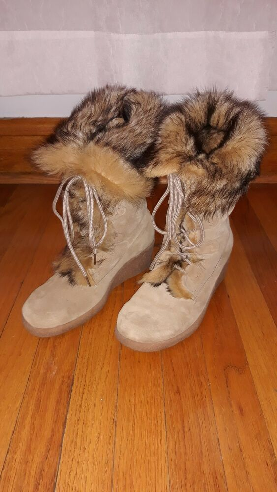 7cc9693421e6 Maxine of Canada Warm Winter Tall Boots Women s Suede Fur Lined Lace-up  Size 8.5  fashion  clothing  shoes  accessories  womensshoes  boots (ebay  link)