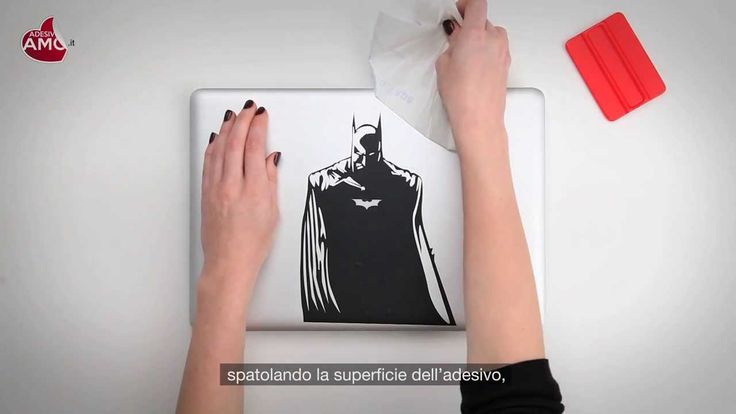 "Tutorial applicazione Macbook Sticker ""Batman"" - Vinyl Decal - Prodotto ..."