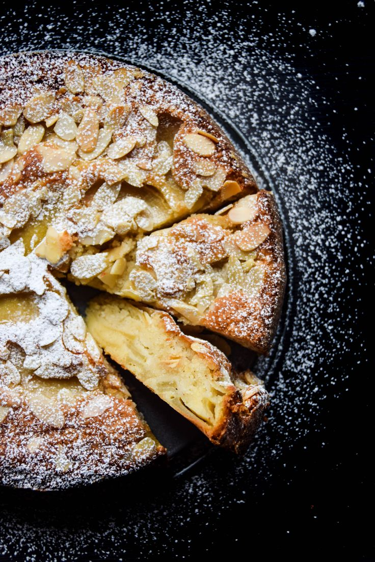 Fragrant almond cake with custard-like bottom and crisp top with a variety of sweet and tart apples.    This recipe is from Bake From Scratch magazine (vol.3 issue 3; May/June 2017). But I did small alterations in the recipe below.