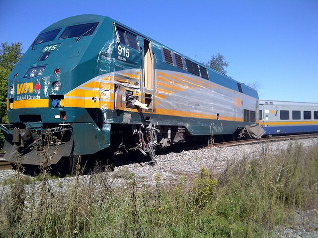 VIA Rail train that collided with an OC Transpo bus in Ottawa