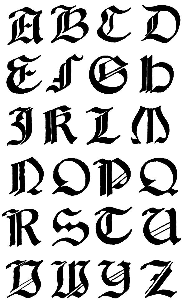 Gothic Letters A-Z :: Italian Gothic Capitals 1 - 16th ...  Gothic Letters ...