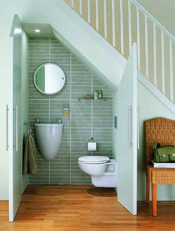 brilliant ideas for that space under the stairs 19 - Bathroom Designs Under Stairs