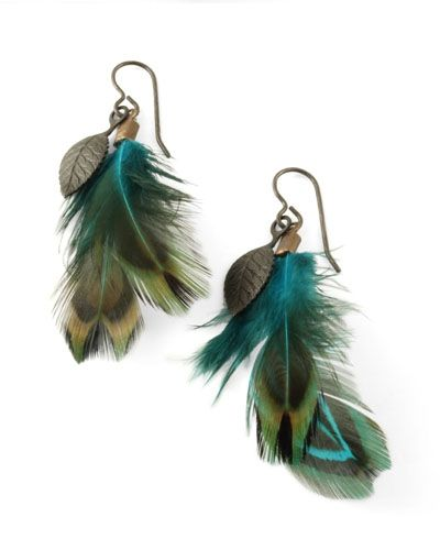 birdieeeFeather Earrings, Feathers Earrings, Delicate Feathers, Feathers Ears, Earrings Tutorials, Jewelry, Peacocks Feathers, Diy Feathers, Diy Earrings