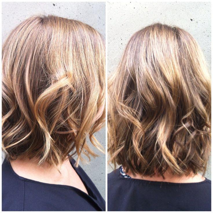 bob, short hair, waves, flat iron curls,   Flat iron curls ...
