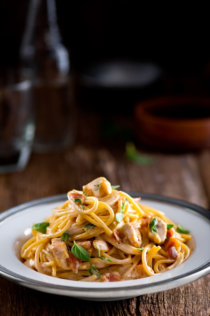 Yummy Chicken & Bacon Spaghetti in Cheddar Sauce #spreadyourflavour