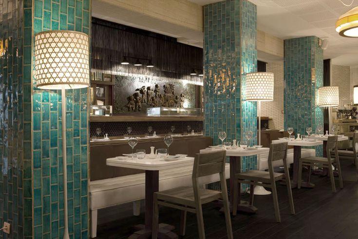 Azulejos cer micos coleccion monocolores mar restaurante for Azulejos restaurante