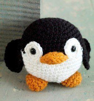 Amigurumis en español. Patron pingüino