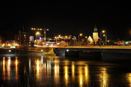 Skellefteå night by mcqal, via Flickr