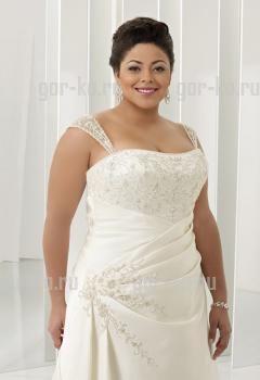 Корсетное свадебное платье большого размера