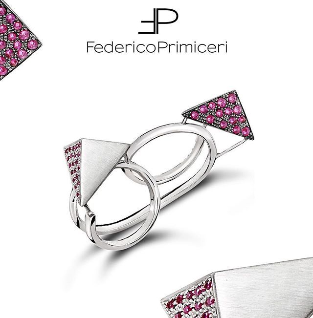 #Love is an unconventional feeling. It's everything from the soul leading to unique sensation of happiness. And this is expressed by @federicoprimiceri @federicoprimiceri_official  in every piece of his fine jewellery collections, such the unisex sterling silver two-finger ring, with rubies and diamonds #FedericoPrimiceri #FineJewellery #jewels #Unique #Unconventional #Luxury #collection #maisonfedericoprimiceri #ruby #diamond #jewellery #Firenze #Milano #London #Paris #silver #vogue #Lecce…
