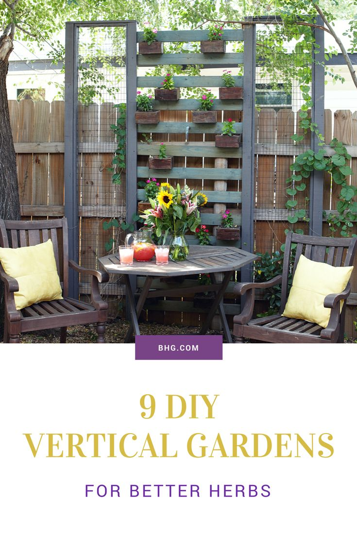 Dream of having fresh-cut herbs at your fingertips but don't have space for a formal herb garden? With these nine clever vertical herb garden ideas, you'll see it is possible to cultivate a functional and beautiful herb garden in a very limited space. #freshherbs #gardening #verticalgardening #growyourownfood