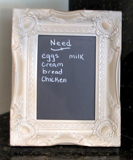 How to Turn Glass in a Frame into a Chalkboard… | The Creativity Exchange