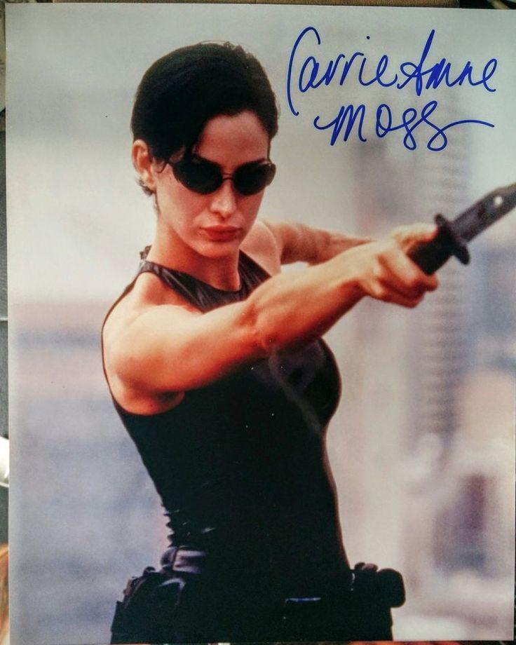Carrie-Anne Moss Matrix Red Planet Daredevil Autographed Signed 8x10 Photo w/COA #scifi #comiccon #movie #cinema