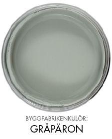 Byggfabrikenkulör gråpäron Naturlig väggfärg http://www.byggfabriken.com/sortiment/farg-och-ytbehandling/ekologisk-vaeggfaerg/