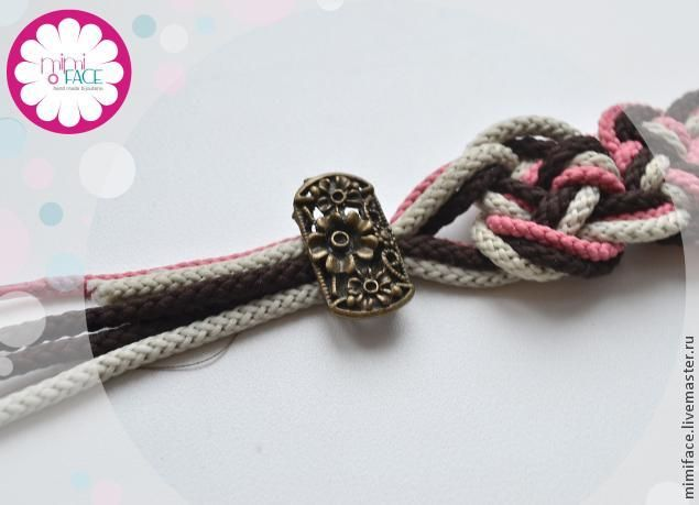 Браслет из шнурков - Ярмарка Мастеров - ручная работа, handmade