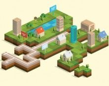Isometric City Map Builder Vector Ai EPS 10 DownloadDesigners Revolution Vector Art Resources Download