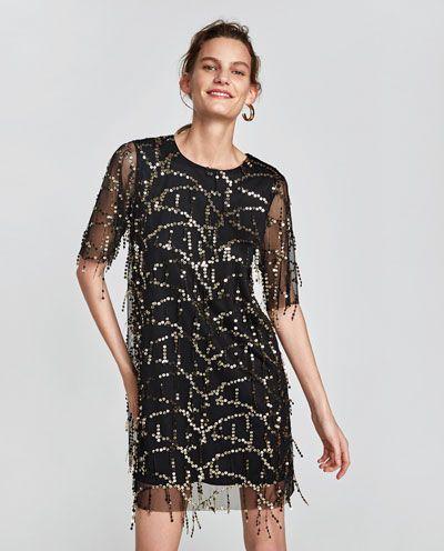 Zara vestidos de mujer de lentejuelas