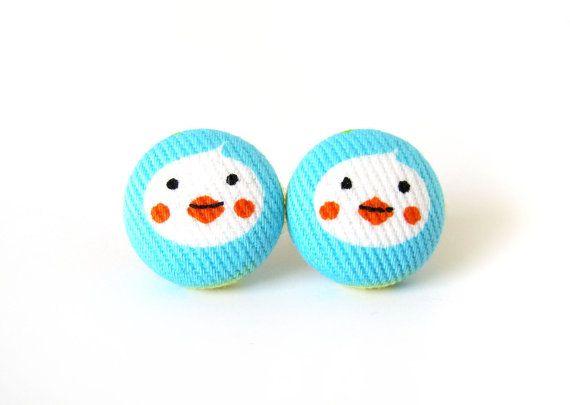 Tiny duck earrings   small earrings for kids  by KooKooCraft, €9.00 $12