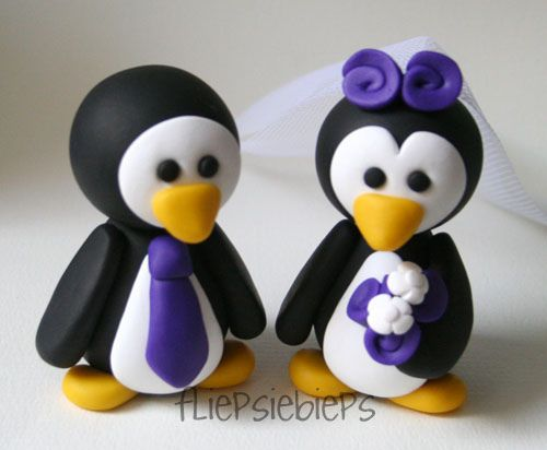 penguin cake toppers :)