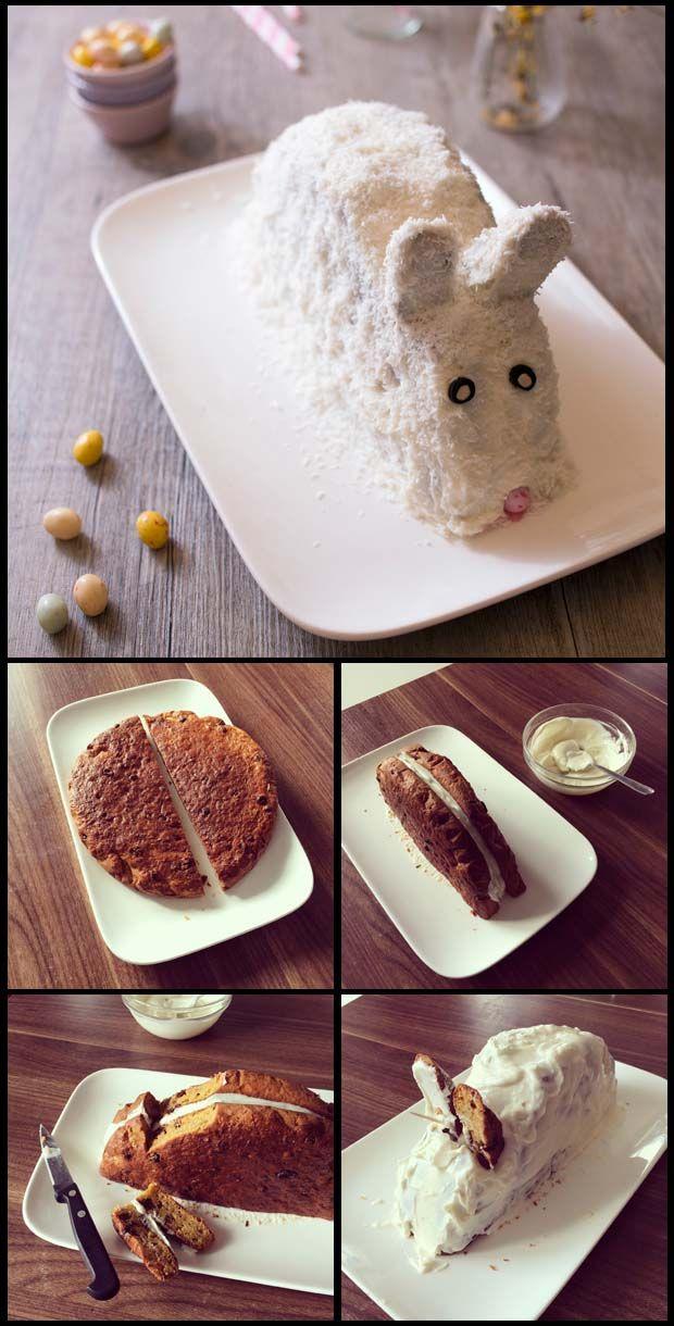 Gâteau Lapin de Pâques carrot cake - DIY photos technique pas à pas