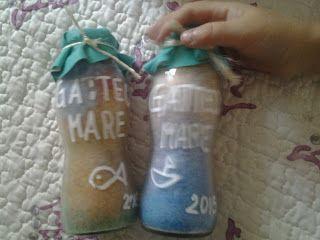 Bottigliette di sale colorato
