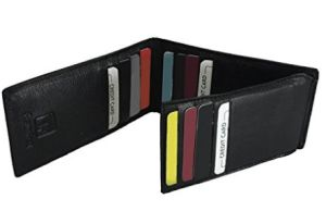 Amazon  Buy Fashion Freak Genuine Leather Tri Fold Black ATM Card Credit Card Holder For Men at Rs.299 only