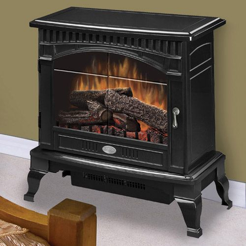 Dimplex Lincoln Gloss Black Electric Fireplace Stove with Remote Control - DS5629GB