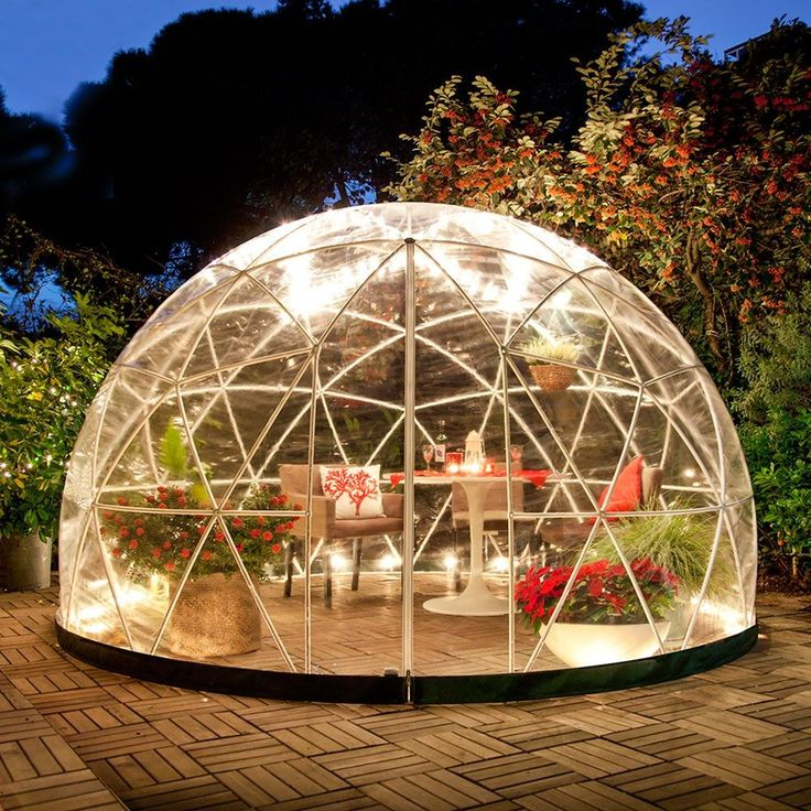 THE GARDEN IGLOO 360 DOME with PVC Weatherproof Cover | Conservatory | Greenhouse | Unique Garden Ideas | Sun Room | Garden Room | Garden Lighting | Fairy Lights | Winter Garden