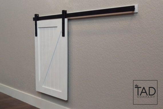 Pet Door Cover. Tiny Door. Fixer Upper Style. Sliding Barn Door. Mini Barn Door. Window Cover Barn Door MINI BARN DOOR // Sliding Door // Farmhouse Chic // by TADcompany