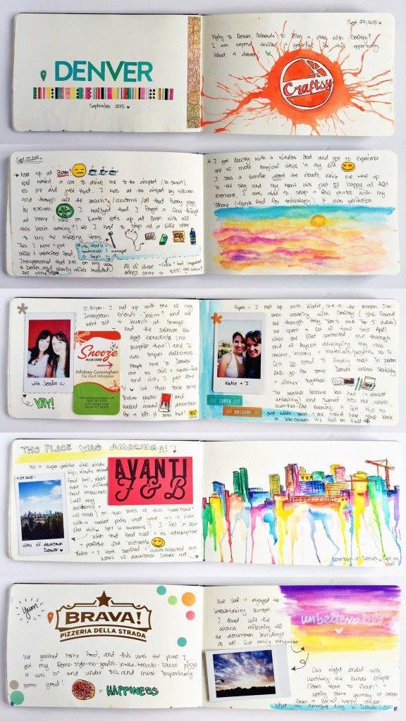travel.sketchbook_OlyaSchmidt.com - great idea for recording your travels
