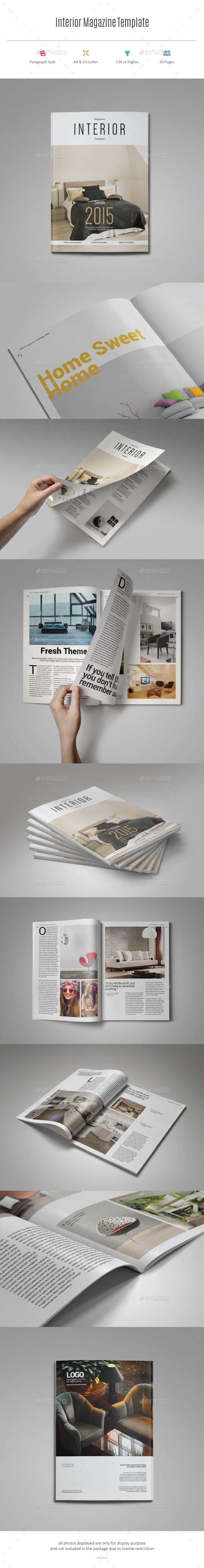 Interior Magazine Template #design #journal Download: http://graphicriver.net/item/interior-magazine-template/11421391?ref=ksioks