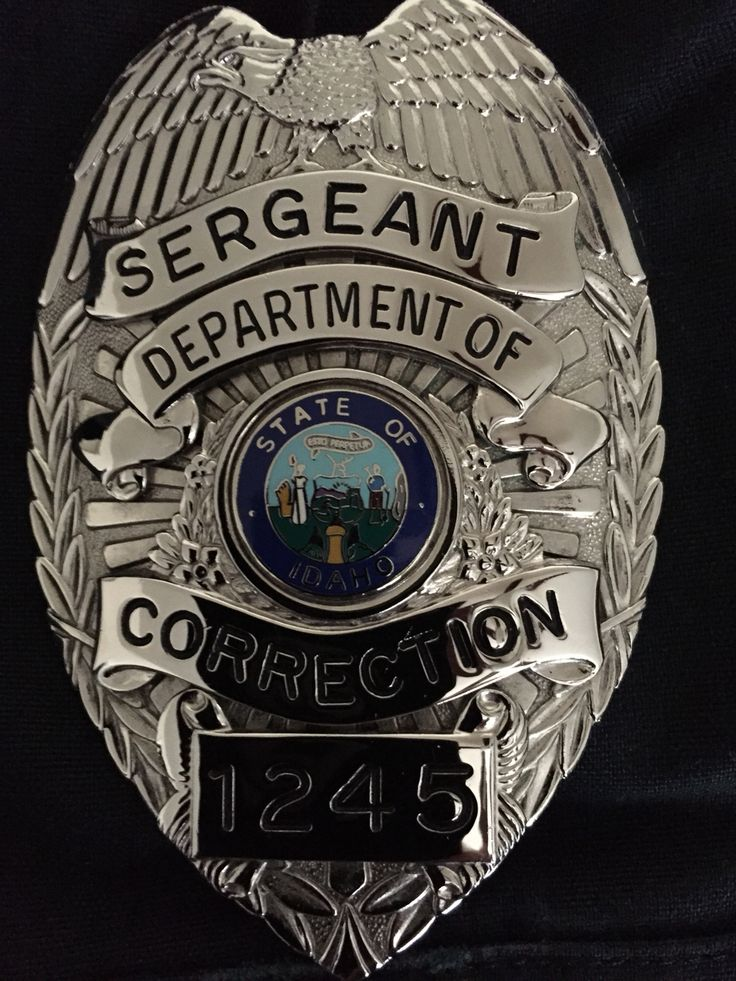 correctional sergeant badge