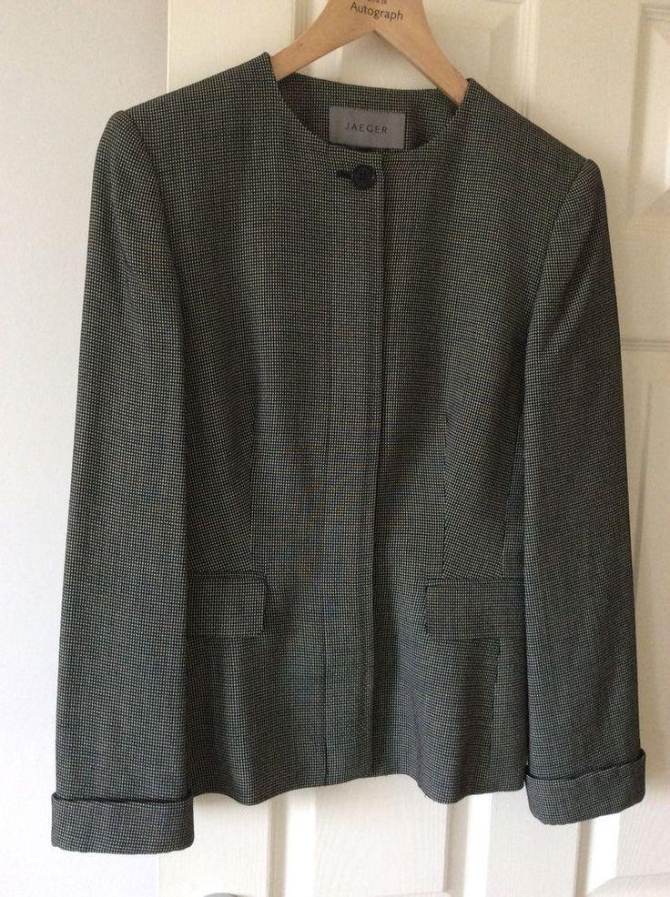 Jaeger Semi Fitted Short Jacket Size 10 fashion clothing