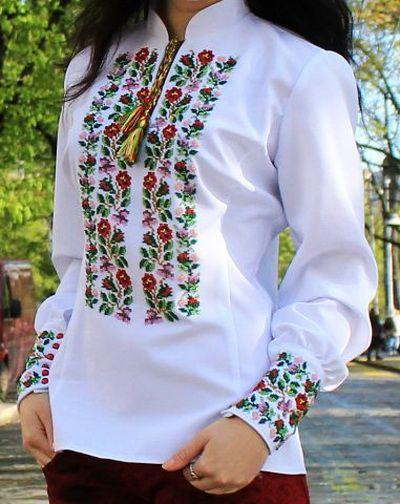 Буковинская вышиванка бисерная