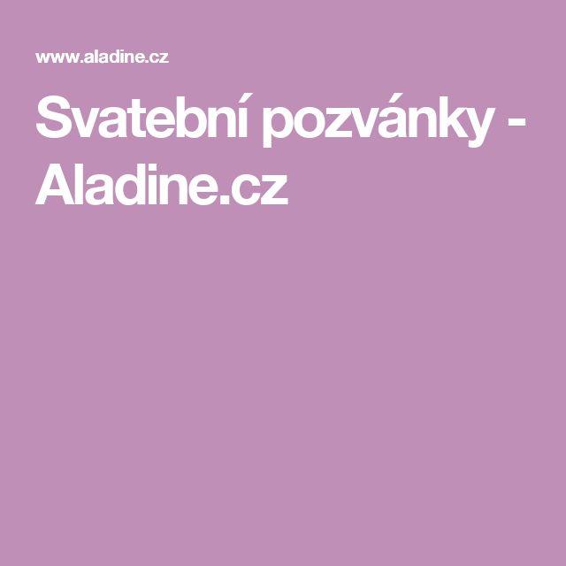 Svatební pozvánky - Aladine.cz