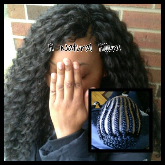 Crochet braids using 4 packs of Freetress Deep Twist hair. www.anaturalallure.com