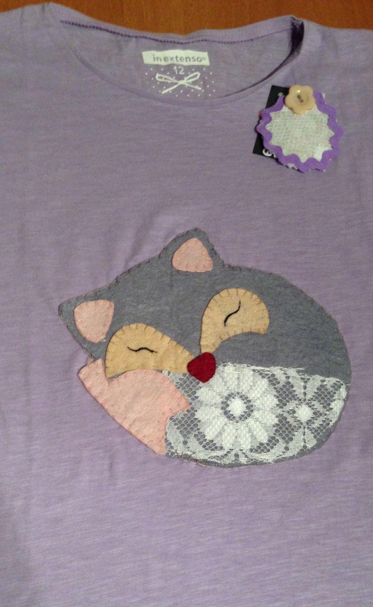 Camiseta zorro patchwork