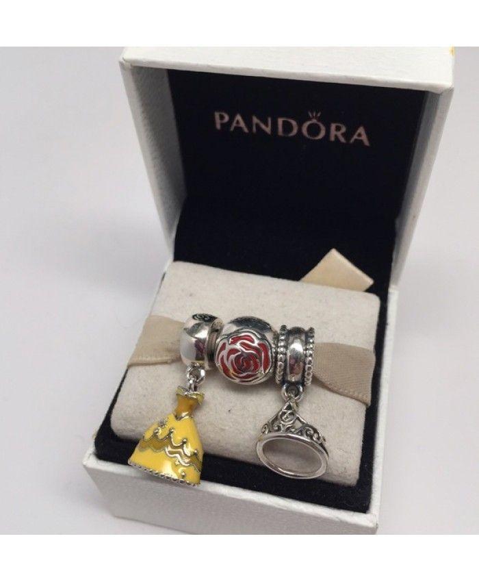 BEAUTY /& THE BEAST Belle Movie Theme Charm Bracelet Girls Ladies Gift Pouch UK