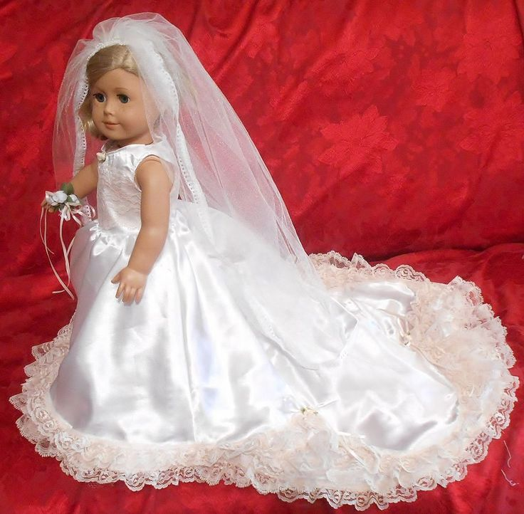 American girl doll wedding gown by ede american girl for American girl wedding dress